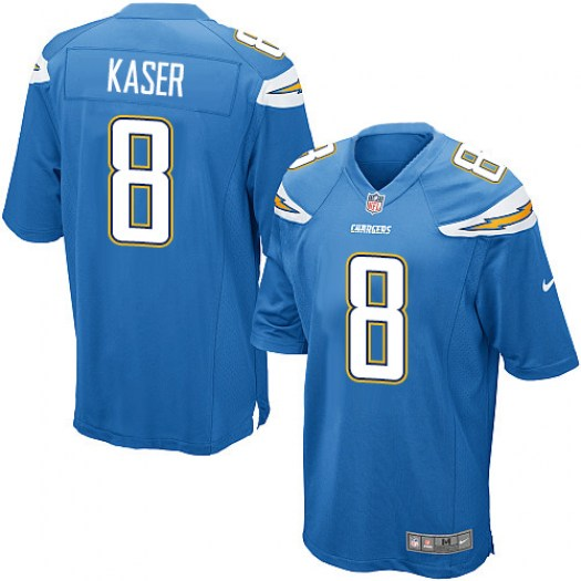 Nike Drew Kaser Los Angeles Chargers Game Blue Electric Alternate Jersey - Men's
