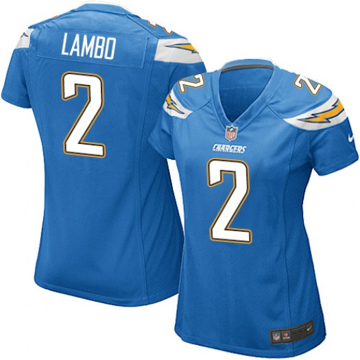 Nike Josh Lambo Los Angeles Chargers Game Blue Electric Alternate Jersey - Women's