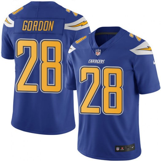 Nike Melvin Gordon Los Angeles Chargers Limited Blue Electric Color Rush Jersey - Men's